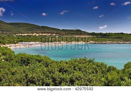 Lazzaretto Beach At Alghero, Sardinia, Italy