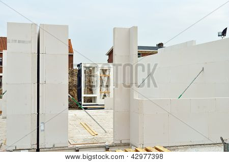 construction site of houses