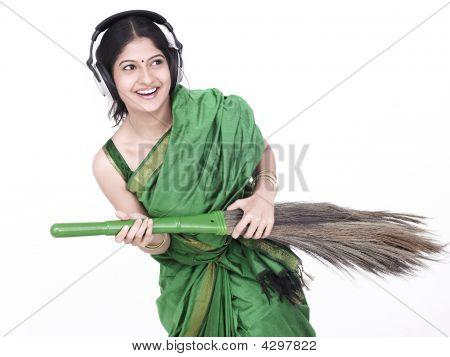 Female  Sweeping
