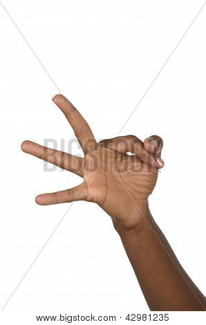 Hand Shows Three Fingers
