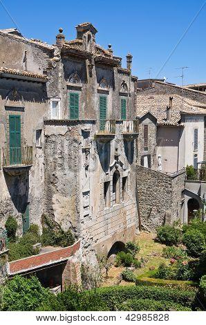 View of Montefiascone. Lazio. Italy.