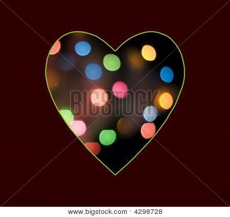 Multicolour Dotted  Valentine's Heart