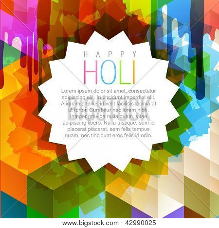 vector illustration of beautiful indian festival holi background