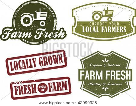 Fresh Farm Produce and Locally Grown Stamps