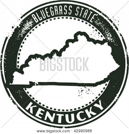Vintage Style Kentucky USA State Stamp