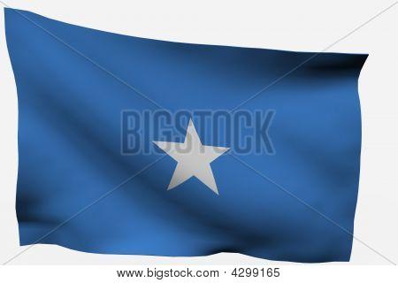 Somalia 3D Flag
