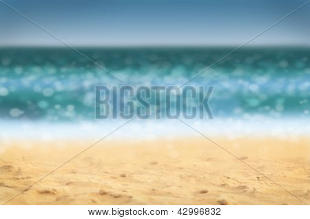 Defocused Beach Background