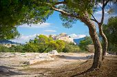 stock photo of akropolis  - Beautiful view of ancient Acropolis Athens Greece
