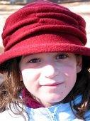 Girl Portrait Hat poster