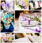 Wedding decorations collage
