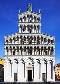 Lucca Landmark, San Michele In Foro Church.  Tuscany, Italy. poster