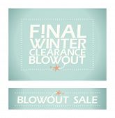 Final winter clearance banners in retro style.