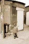 child on a street of Khayelitsha township