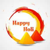 vector happy holi design illustration