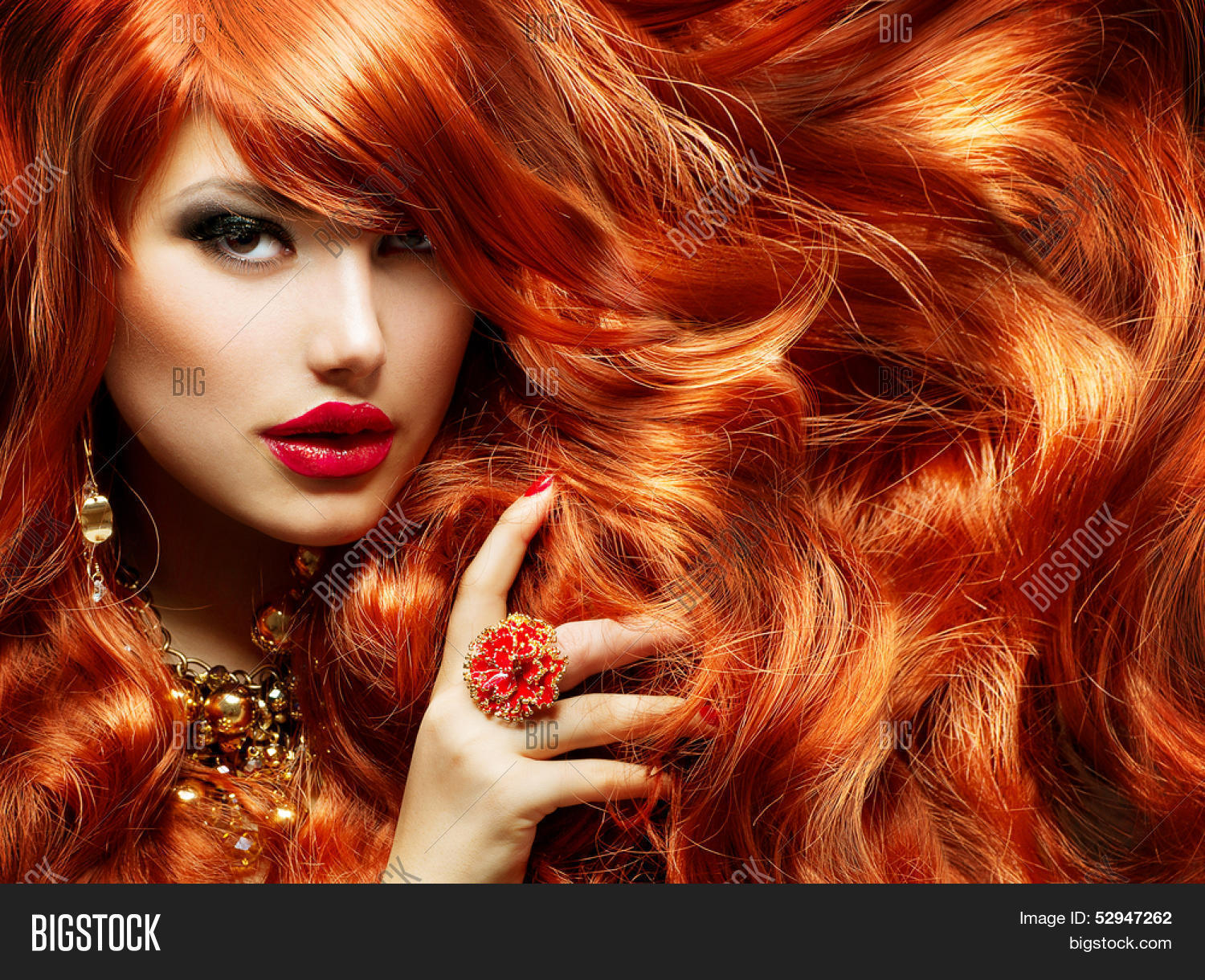 long curly red hair fashion woman image amp photo bigstock