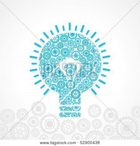 Group of gear make a bulb stock vector