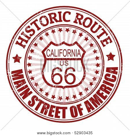 Historic Route 66, California Stamp