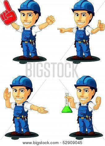 Technician Or Repairman Mascot 13