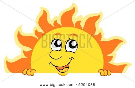 Cute Lurking Sun