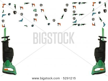 Power Tools  On White Background With Clipping Path