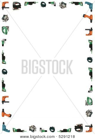 Power Tools Frame With Clipping Path
