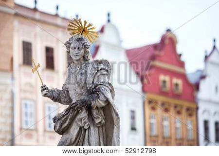 Telc. Sculpture