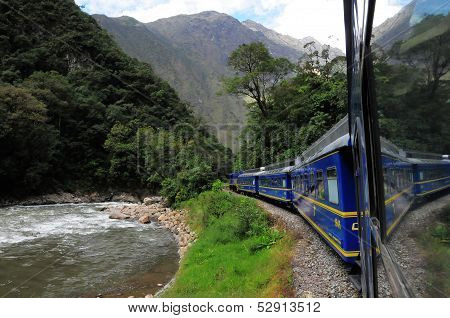 Train from Ollantaytambo goes to Machu Picchu.