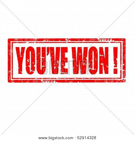You've Won!-stamp
