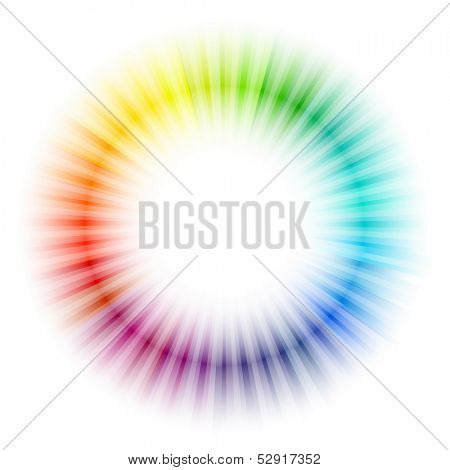 Rainbow radial pattern