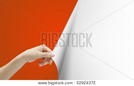 Hand Turns Red Page