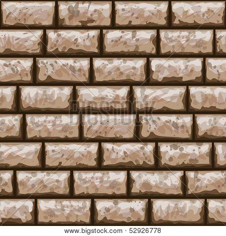 Dirty Brick Wall Seamless Pattern