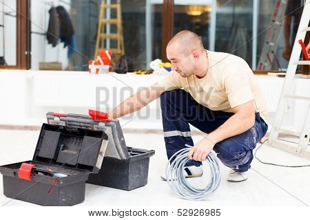 Service Man With His Toolbox