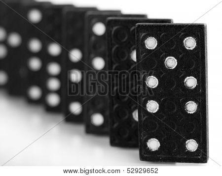 Dominoes isolated on white