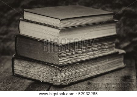 Retro Setting And Effect Of Antique Vintage Books