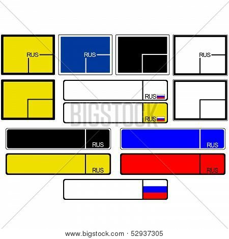 Car license plate frames Russia