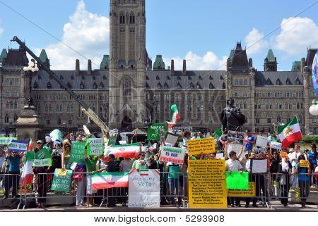 iranischen Wahl Protest in Kanada