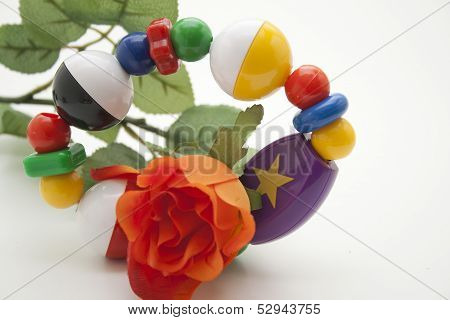Baby toys with rose