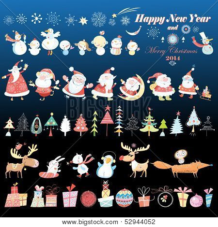 Collection Of Christmas Design Element