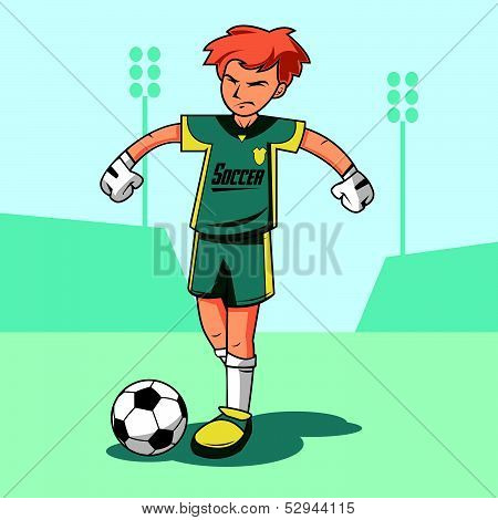 Soccer Keeper Vector Illustration