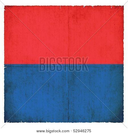 Grunge Flag Of Ticino (switzerland)