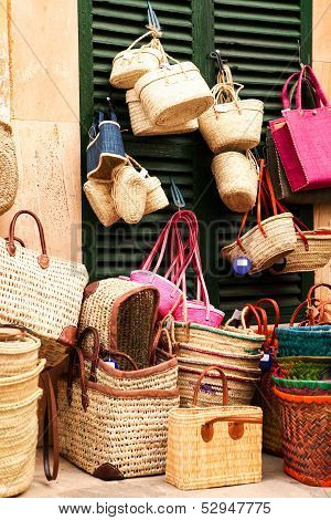 Handmade Colorful Straw Handbags On Market Sale Summer