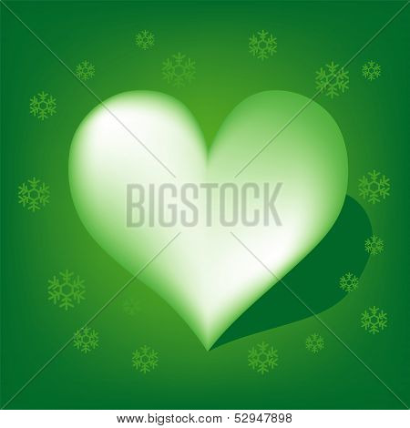 Heart with Koch snowflake vector