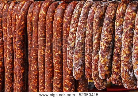 Romanian Sausages (carnati), Smoked And Dried-1