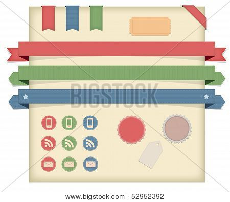 Vector Labels,Tags & Ribbons, Icons