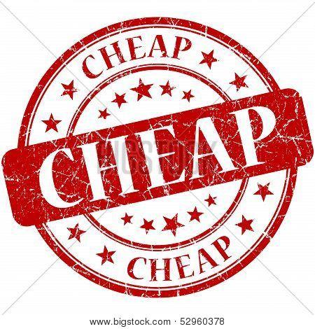 Cheap Grunge Red Round Stamp