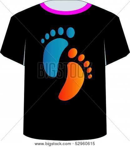 Printable tshirt graphic- baby foot