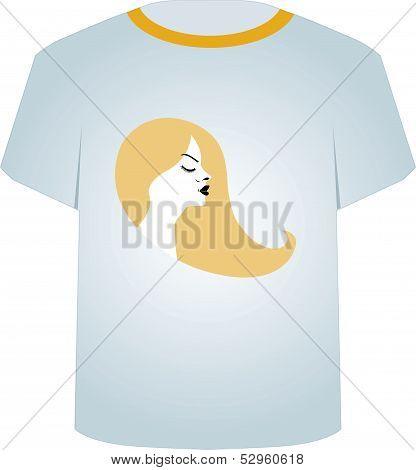 T Shirt Template- Glamor Model