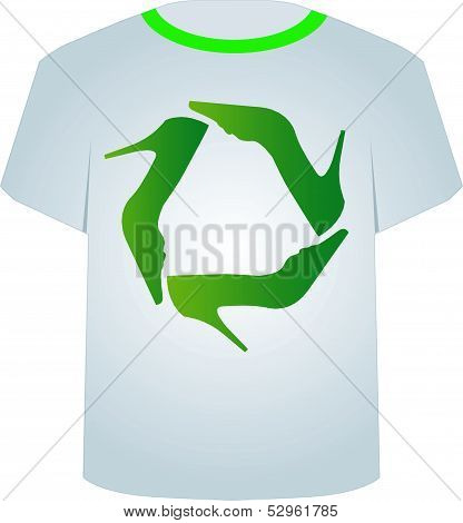 T Shirt Template-Recycle shoes