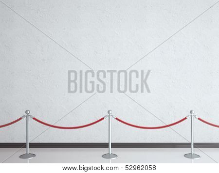Stanchions In Gallery