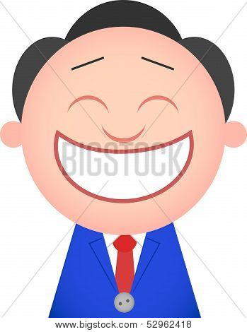 Funny Businessman Happy